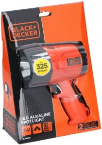 Spotlight 3W led 325lum Black + Decker